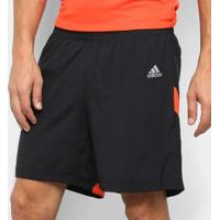 Short Adidas Own The Run Masculino - Masculino-Preto+Laranja