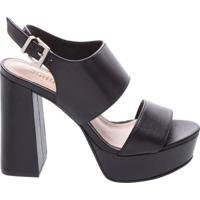 Sandália Big Strap Block Heel Black   Schutz