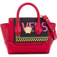Young Versace Bolsa Tote Com Estampa De Logo - Vermelho