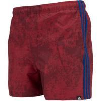 Bermuda De Banho Adidas 3S Aop Vsl - Masculina - Vermelho