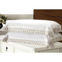 Fronha Luxury Algodão Branca 50X150