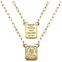 Escapulario Prata Mil Sagrado Coraã§Ã£O De Jesus Salmo Ouro - Dourado - Dafiti