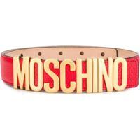 Moschino Cinto Com Logo - Vermelho