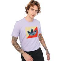 Camiseta Adidas Originals Diagonal Lilás