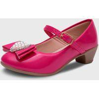 Sapato De Salto Pópidí Menina Laço Coraçáo Pink