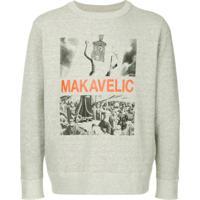 Makavelic Moletom Com Estampa 'Jesus' - Cinza