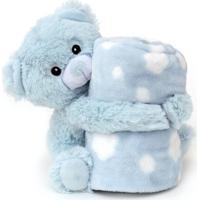Manta Bebe Naninha Loani Urso Azul - Transparente - Dafiti