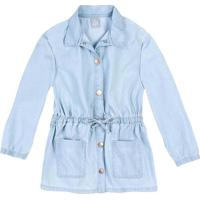 Jaqueta Jeans Com Amarraã§Ã£O- Azul Clarohering