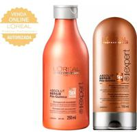 L'Oréal Professionnel Absolut Repair Pós Química Kit- Shampoo + Condicionador Kit - Unissex-Incolor