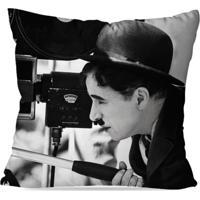 Almofada Avulsa Decorativa Charlie Chaplin 45X45Cm Love Decor