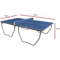 Mesa De Ping Pong / Tênis De Mesa Klopf C/ Rodízio Mdp - 15 Mm - Unissex