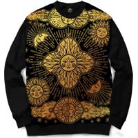 Blusa Bsc Mistic Sun Full Print - Masculino-Preto