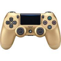Controle Sony Dualshock 4 Gold V2 Sem Fio (Com Led Frontal) - Ps4 - Unissex