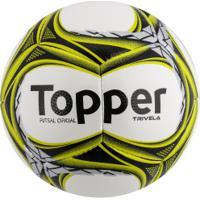 421fdfdc39 Bola De Futsal Topper Trivela V12 - Branco Prata
