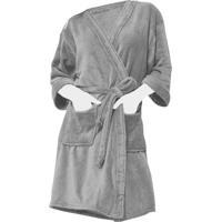 Roupão Kimono Microfibra Sofisticata Atlântica Pedra - Kanui