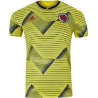 Camisa Colômbia I 2019 Adidas - Masculina - Amarelo