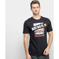 Camiseta Nike Dri-Fit Basketball Jdi Masculina - Masculino-Preto