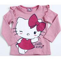 Blusa Infantil Moletinho Hello Kitty Manga Longa Sanrio
