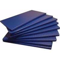 Kit 5 Colchonetes Ginástica, Academia E Yoga Azul - 100 X 50 X 3Cm - Azul