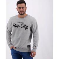 Moletom Starter Compton Rap City Cinza Mescla