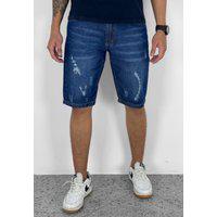 Bermuda Jeans Destroyed Blue