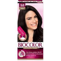 Tintura Biocolor Coloração Creme Castanho Claro 5.0 Mini Kit