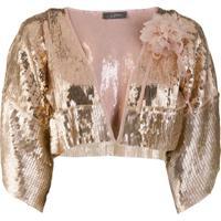 So Allure Sequin Embellished Bolero - Rosa