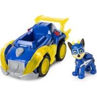 Carrinho E Boneco Patrulha Canina Sunny Chase Super Paws Com Som E Luz - Masculino-Azul