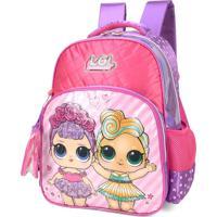 Mochila Escolar Boneca Lol Com Mini Bolsinha P Bonecas Luxcel 34611 Rosa