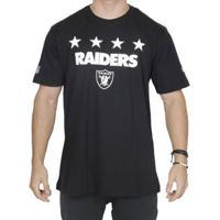 Camiseta Oakland Raiders Number Star Nfl - New Era - Unissex