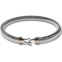 David Yurman Pulseira 'Cable' De Prata Com Ouro 18K - S8