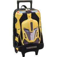 Mala De Carrinho Transformers Relevo Amarelo