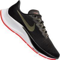 Tênis Nike Air Zoom Pegasus 37 - Masculino - Preto/Verde Escuro
