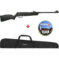 Carabina De Pressão Cbc Jade Oxidada 4.5Mm + Capa Simples + Brinde Chumbinho Rifle - Unissex
