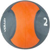 Medicine Ball 2Kg Vollo Preta/Laranja