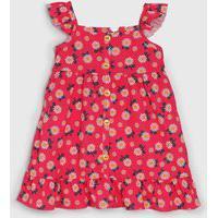 Vestido Kely Kety Infantil Floral Rosa