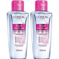 Kit Loréal Paris 2 Águas Micelar Solução De Limpeza Facial 5 Em 1 100Ml - Feminino-Incolor
