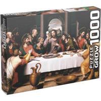 Quebra-Cabeça 1000 Peças Puzzles Santa Ceia - Unissex-Colorido