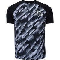 Camiseta Do Santos Upper - Masculina - Preto/Branco