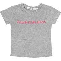 Blusa Calvin Klein Kids Menina Escrita Cinza