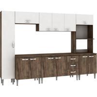 Cozinha Compacta Master 12 Pt 3 Gv Naturalle Com Branco