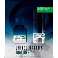 Kit Perfume Benetton United Dreams Together For Him Edt 100Ml + Body Spray 150Ml - Masculino-Incolor