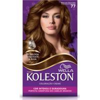 Tintura Koleston Kit Creme 77 Marrom Dourado