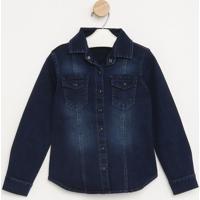 Jaqueta Jeans- Azul Escuro- Pequena Maniapequena Mania