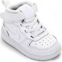 Tênis Infantil Nike Court Borough Mid 2 Tdv - Masculino-Branco