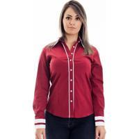 Camisa Pimenta Rosada Carola - Feminino-Vermelho+Branco