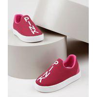 "Tênis Infantil Sonho De Criança Knit Calce Fácil Pink"" Pink"""
