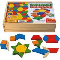 Mosaico Geométrico 100 Peças Cx De Madeira - Jottplay