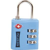 Cadeado Sestini Tsa Com Combinação - Unissex-Azul