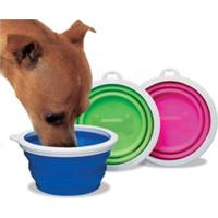 Bebedouro De Silicone Pet Club Dog Sport Azul